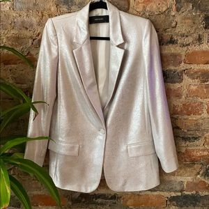Zara metallic dress pants